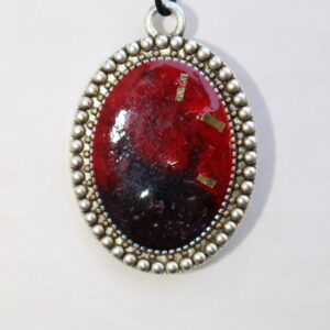 Red and Blue Fancy Pendant Art by Tammy Hedge Fredericksburg VA