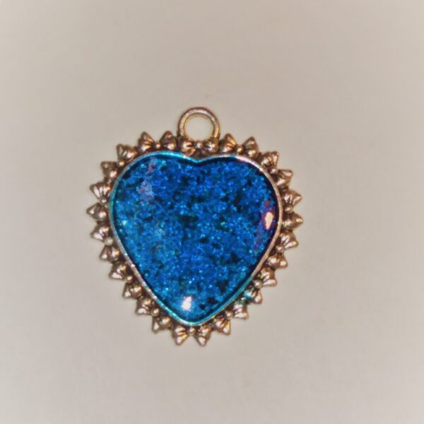 large blue dragon fire heart 4821