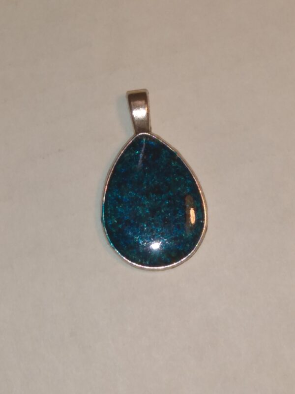 Blue Teardrop Pendant by Hedgerow Art